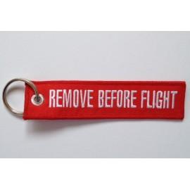 Anhänger - REMOVE BEFORE FLIGHT - rot