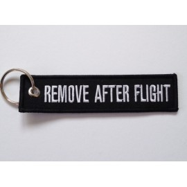 Anhänger - REMOVE AFTER FLIGHT - schwarz