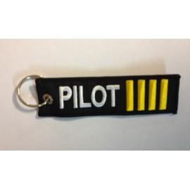 Anhänger - PILOT / 4 goldene Streifen