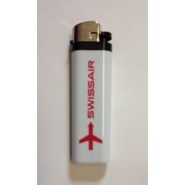 SWISSAIR Feuerzeug - weiss/rot
