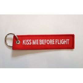 Anhänger - KISS ME BEFORE FLIGHT - rot