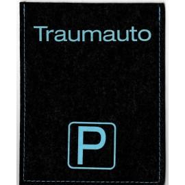 Parkscheibe / Parkkarte blaue Zone - Traumauto - schwarz / hellblau