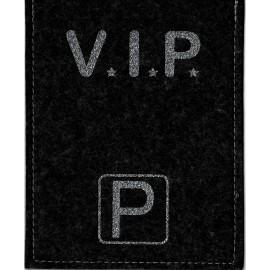 Parkscheibe / Parkkarte blaue Zone - VIP - schwarz / glimmer