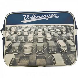 Retro Bag Volkswagen Original - blau mit schwarz weiss