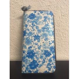 Okalosa Lederportemonnaie - Blue Flowers