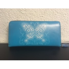Okalosa Lederportemonnaie - Butterfly Blue