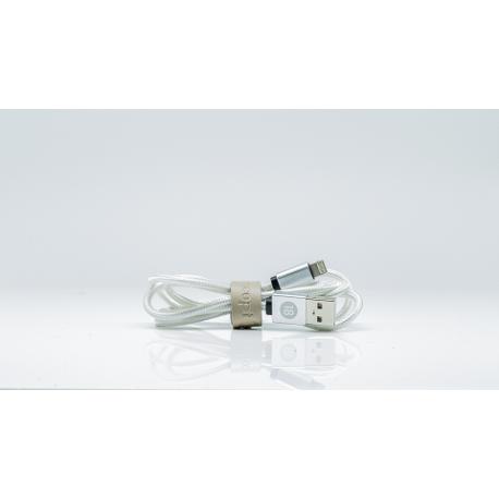 Ladekabel 2in1 - Lightning und Micro USB - Silber