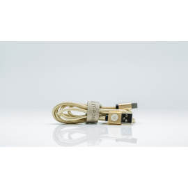 Ladekabel 2in1 - Lightning und Micro USB - Gold