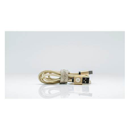 Ladekabel 2in1 - Lightning und Micro USB - Gold