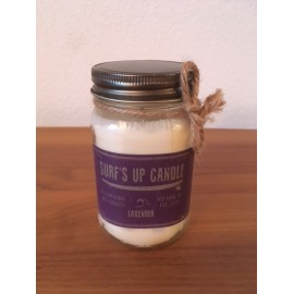 Surf's Up Glass Candle Lavender