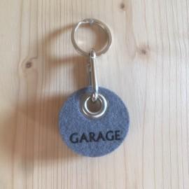 Filz Schlüsselanhänger Garage