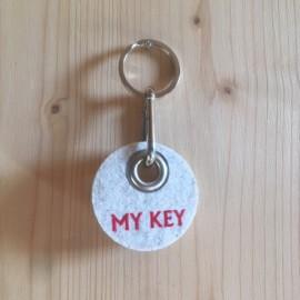 Filz Schlüsselanhänger My Key