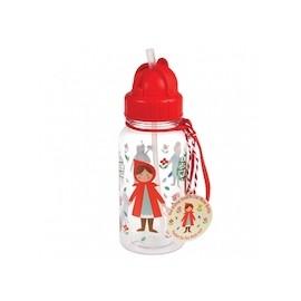 Trinkflasche mit Trinkhalm Rex London - Rotkäppchen
