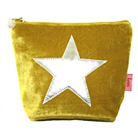 LUA Samtbeutel 'Velvet Star' Grösse M - gelb