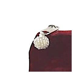 LUA Samtbeutel gross - burgundyrot