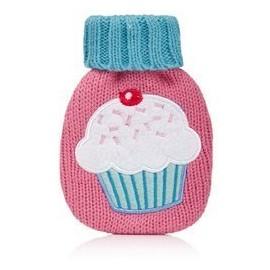 Handwärmer 'Mini-Hottie' mit Stricküberzug - Cupcake