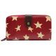 TULIP by Candy Flowers Portemonnaie gross - burgundy mit beigen Sternen