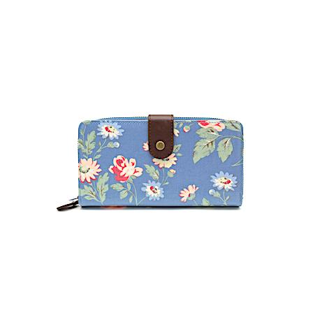 TULIP by Candy Flowers Portemonnaie gross - blau in Jeansoptik mit weissen Punkten
