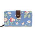 TULIP by Candy Flowers Portemonnaie gross - hellblau mit Blumenmotiv