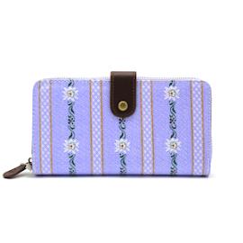 TULIP by Candy Flowers Portemonnaie 'Ethno' (grosse Ausführung) - hellblau mit Edelweissmuster
