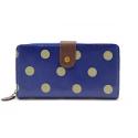 TULIP by Candy Flowers Portemonnaie gross - blau mit gold-beigen Punkten