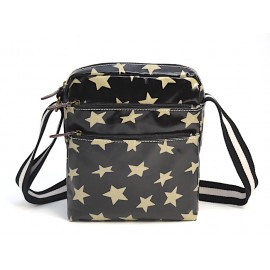 TULIP by Candy Flowers Umhängetasche / Crossbody Bag 4183 - schwarz mit gold-beigen Sternen