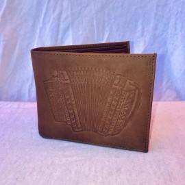 Echt Leder Portemonnaie Handörgeli, 11x7cm