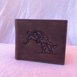 Echt Leder Portemonnaie Schwinger, 11x7cm