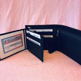 Echt Leder Portemonnaie Kanton Basel-Land, 11x7cm