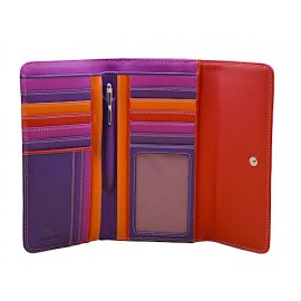 Mywalit Portemonnaie dreifach faltbar - Sangria Multi - weinrot/violett/orange