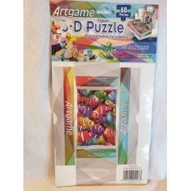 3-D Puzzle 60 Stück  mit kleiner Faltschachtel CLOWNFISH