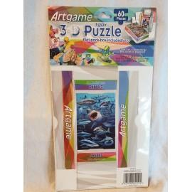 3-D Puzzle 60 Stück  mit kleiner Faltschachtel Haifisch