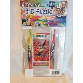3-D Puzzle 60 Stück  mit kleiner Faltschachtel Vögel