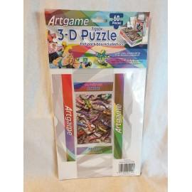 3-D Puzzle 60 Stück  mit kleiner Faltschachtel GECKOS