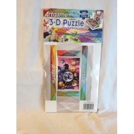 3-D Puzzle 60 Stück  mit kleiner Faltschachtel Planeten
