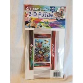3-D Puzzle 60 Stück  mit kleiner Faltschachtel Wasserwelten