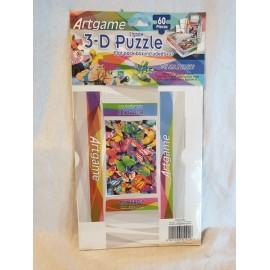 3-D Puzzle 60 Stück  mit kleiner Faltschachtel Schmetterlinge