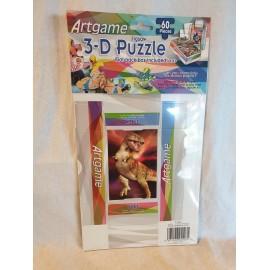 3-D Puzzle 60 Stück  mit kleiner Faltschachtel T-REX