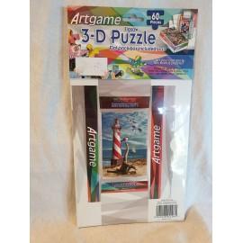 3-D Puzzle 60 Stück  mit kleiner Faltschachtel Leuchtturm