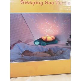 Schlafschildkröte blau mit verschiedenen Funktionen. Batteriebetrieb 3 x AAA, nicht inklusive