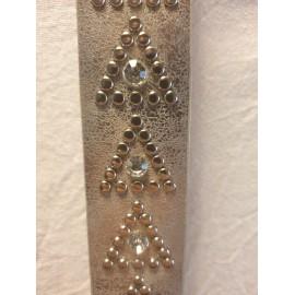 Damen Leder- Gürtel silber mit Nieten